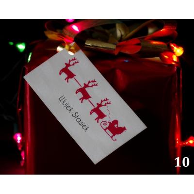 Bileciki na świąteczne prezenty RÓŻNE WZORY