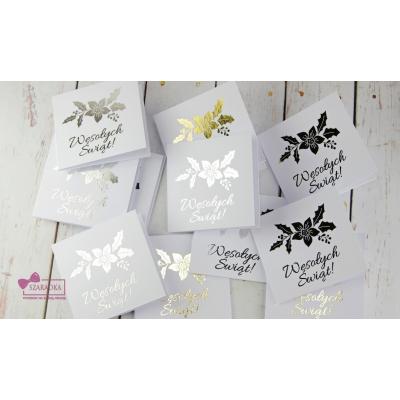 Błyszczące bileciki do prezentów - ZŁOTE/SREBRNE