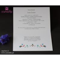 Zaproszenie ślubne ludowe kaszubskie
